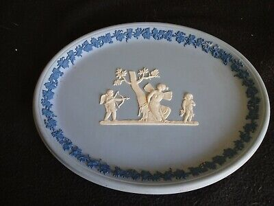 Wedgwood  Blue Jasperware Two Tone Blue Plaque/Tray 10  Long • 24.99£
