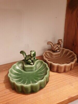 Wade Pottery Collectables - Pair Of Small Dishes With Squirrel • 1.99£
