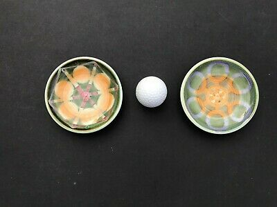 Rye Iden Pottery A Pair Of Vintage Pin Dishes Very MCM Style And Colour   • 15£