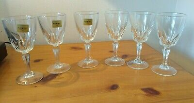 Luminarc Verrerie Crystal French 6 Sherry Port Liqueur Glasses 11 Cm High Lot 2 • 12£