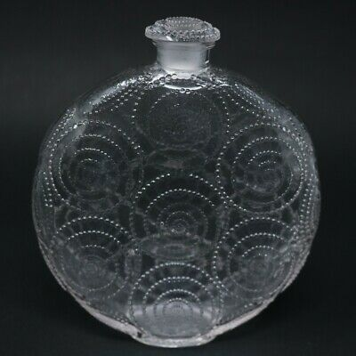 Rene Lalique Clear Glass 'Forvil 8 Relief' Perfume Bottle • 560£