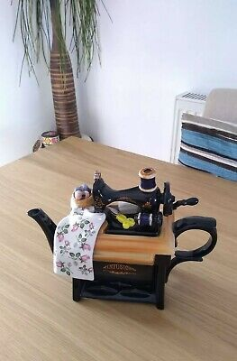 Large Collectable Vintage Teapot Sewing Machine By Paul Cardew  Infusion   New • 65£