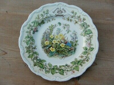 1 X ROYAL DOULTON PLATE, BRAMBLY HEDGE, SPRING - JILL BARKLEM And WALL HANGER • 6.99£