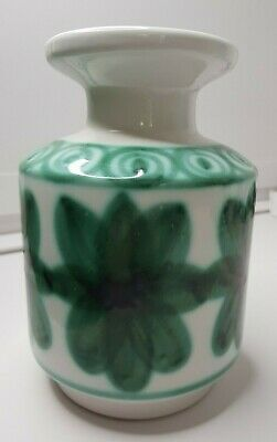 Rye Cinque Ports Pottery The Monastery  Rye Vase Vintage 1960's Hand Painted VGC • 35£