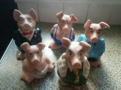 WADE FULL SET NATWEST PIGS,  WITH 5 X NATWEST STOPPERS - Piggy Banks  • 17£