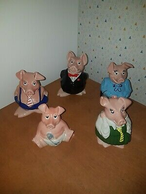 Natwest Pigs Full Set - Excellent Condition • 30£