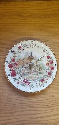 A Royal Albert Old Country Roses Cottage Clock Plate • 12£
