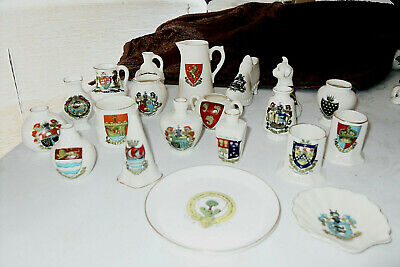 20 Pieces Of Arcadian Crested China -all Different- Vgc • 15£