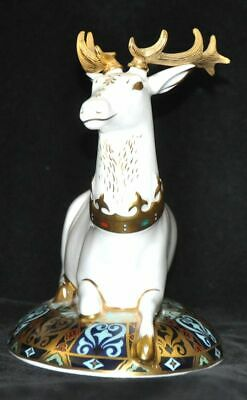 Royal Crown Derby The White Hart Heraldic Stag • 54£