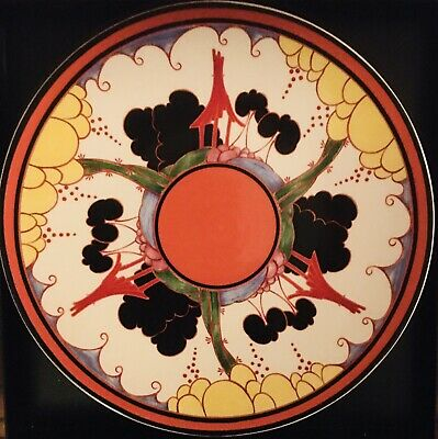 CLARICE CLIFF 'BIZARRE' CHARGER PLATE (31cm.) 'SUMMERHOUSE' • 150£