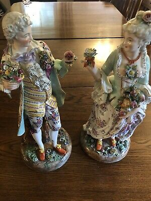 Large Pair Of Dresden Figures • 250£