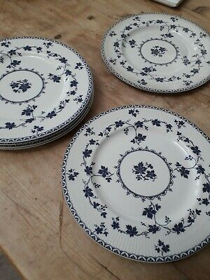 Royal Doulton - Yorktown - Ribbed - 6 Dinner Plates Approximately 27cm Wide. • 20£