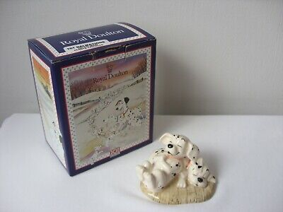 Royal Doulton 101 Dalmatians Figure DM3 Penny And Freckles Boxed • 15£