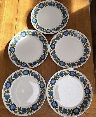 J&G MEAKIN STUDIO Vintage 1960s Topic 5 X 10  Dinner Plates Very Good Condition • 20£
