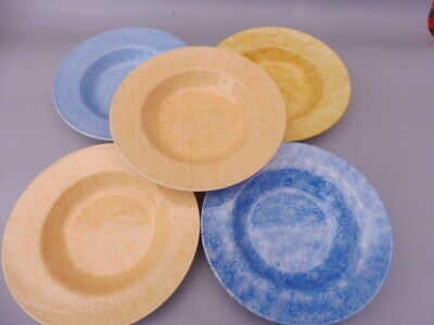 Five Royal Stafford  Painterly Affects  Pasta Soup  Bowls • 74.50£