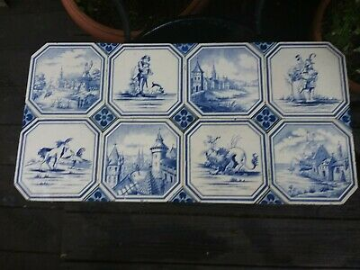 Eight Dutch Tiles In Delft Style • 43£