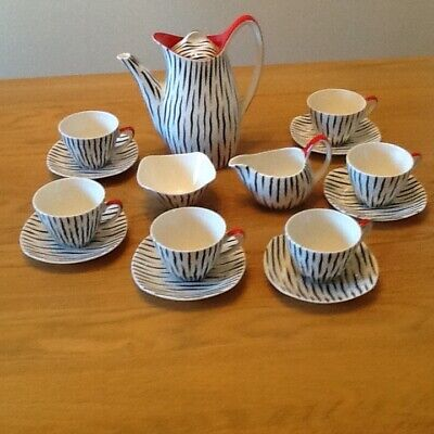 Midwinter Zambesi Complete 6 Person Coffee Set • 165£