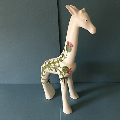 WEMYSS PLICHTA UNUSUAL GIRAFFE - BOVEY TRACEY - THISTLE DECORATION - 25cm TALL  • 25£