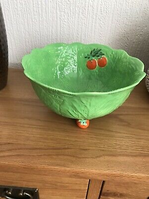 Vintage Beswick Ware Lettuce & Tomato Pattern Salad Bowl With Feet Back Stamped • 5£
