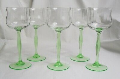Peter Behrens Set Of Five Art Nouveau Wine Glasses For Poschinger • 150£