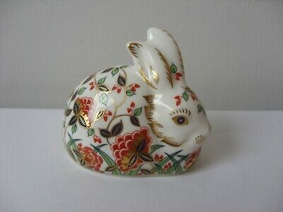 Royal Crown Derby Meadow Rabbit Paperweight Gold Stopper • 37.50£