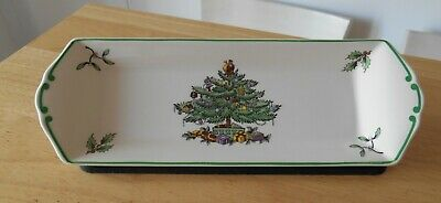 Spode  Christmas Tree  After Dinner Mint Serving Dish Made In England  • 3£