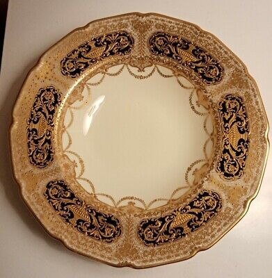 ANTIQUE ROYAL DOULTON GILDED DEEP PLATE Heavily Decorated  • 1.20£
