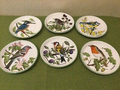 Crown Staffordshire Bone China Coasters, Set Of 6 Birds Painted By Norman Arlott • 9.25£