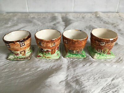 4 X Vintage Cottage Ware Egg Cups ~ Very Collectible • 5.99£