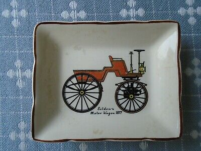 Lancaster & Sandland Ware Small Trinket Dish Depicting Selden's Motor Wagon 1877 • 1£