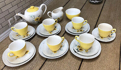 J&G Meakin Summer Time Tea  Set C. 1958  Vintage • 30£