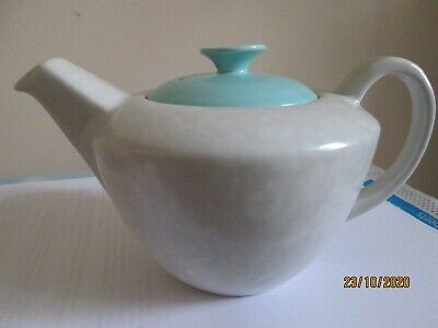 Poole Pottery Tea Pot Ice Green/ Seagull New Condition • 12£