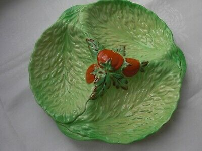 Vintage Beswick Ware Lettuce And Tomato Three Section Dish • 5£
