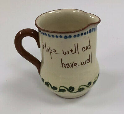 Vintage Watcombe Pottery Milk Jug  Hope Well And Have Well  • 4£