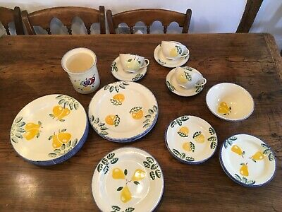 Poole Pottery Dorset Fruits Plates And A Few Other Items. • 75£