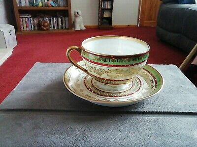 CUP AND SAUCER Bone China. Hand Painted.Vintage.marked Austria • 12£