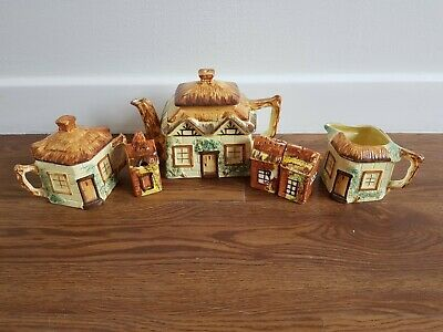 Vintage Keele Street Pottery Of Staffordshire Cottage Ware Bundle • 20£