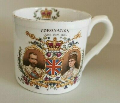 1911 King George V Coronation Shelley Cup / Mug County Borough Of Rotherham • 4.50£