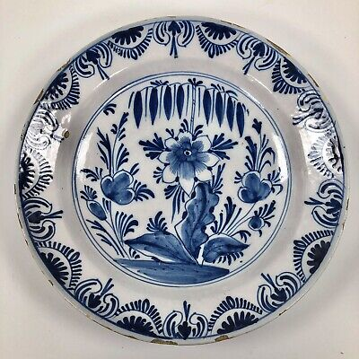 Superb Large Dutch Delft Charger C.1700 Delftware Tin Glazed Faience Fayence • 95£