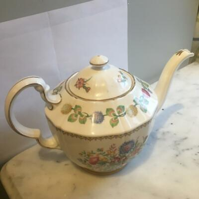 Adderley Meadowsweet Teapot With Lid PERFECT • 27.50£