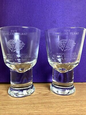 Pair Of Goblets Fife Ethylene Plant Inaugurated By HM The Queen 6 June 1986  • 19.99£