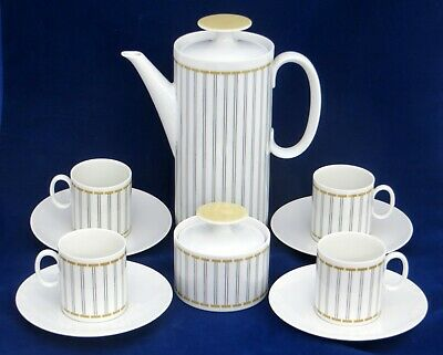 Thomas Coffee Pot + 4 Cups & Saucers + Sugar Bowl & Lid • 14£