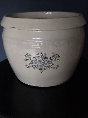 Large Antique Doulton And Co. Lambeth Stoneware Improved Bread Pan • 90£