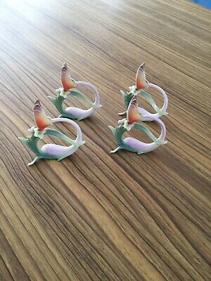 Franz Porcelain Collection, Pair Of  Papillon Butterfly   Napkin Rings FZ00500 • 79£