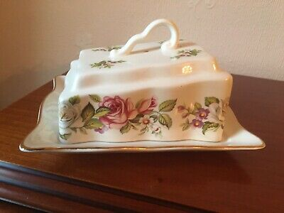 Old Foley  James Kent  'Harmony Rose' Butter/Cheese Dish • 23£