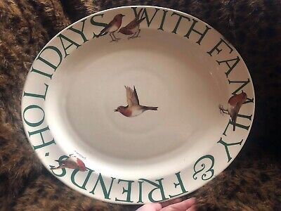 Emma Bridgewater, Holidays With Family & Friends Serving Plate, Christmas Robin • 65£