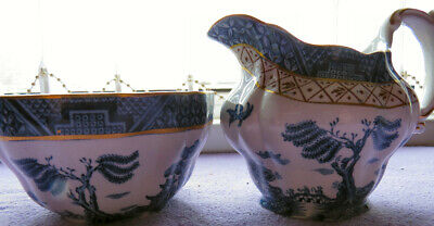 BOOTHS Real Old Willow A8025 ~Sugar & Creamer~ • 40£