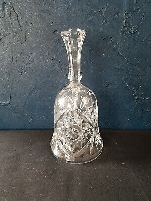 Crystal Cut Glass Bell • 8£
