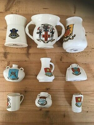 Superb Collection Of Nine Pieces Of Crested China • 5£