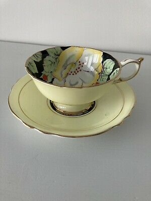 Vintage Paragon Bone China Cup & Saucer Pale Yellow 1 Of 2 • 10.50£